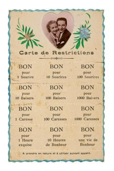 Carte postale de restrictions - Collection Bernard Le Marec © Pierre Verrier